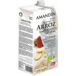 Bebida de Arroz con Plátano y Fresa Eco - Amandin - 1 l.