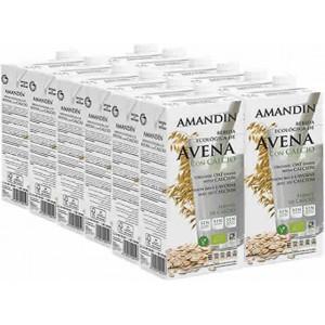 Bebida de Avena + Calcio Eco - Amandin - 1 l. - Pack Ahorro 12 unidades