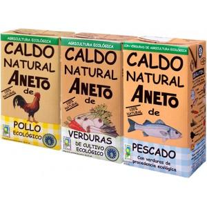 Surtido de Caldos Eco - Aneto - 1 L. - Pack Ahorro 3 unidades