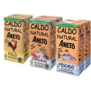 Surtido de Caldos Eco - Aneto - 1 L. - Pack Ahorro 6 unidades